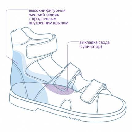 Сандалеты ортопедические малосложные с открытым носком TW-172