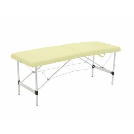 Стол массажный переносной на алюминиевой раме арт. JFAL01-F (2-х секционный) (бежевый)