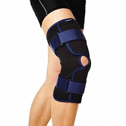 Бандаж на колено ортопедический с полицентрическими  шарнирами, разъемный RKN-203