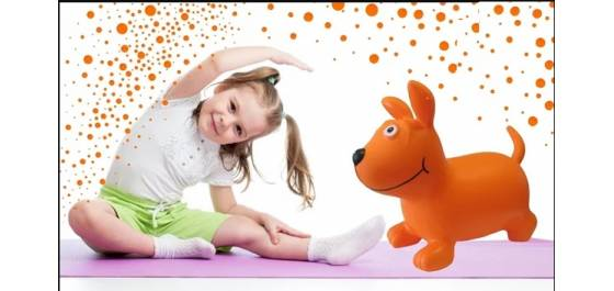 Детская надувная игрушка-тренажёр