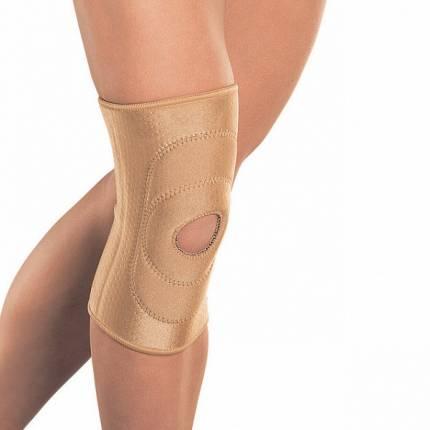 Бандаж на колено с фиксирующей подушкой и отверстием RKN-103