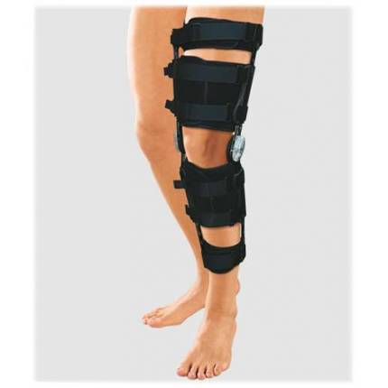 Ортез на коленный сустав с ребрами жесткости и регулятором угла сгибания HKS-303